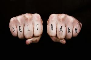 self harm knuckles small